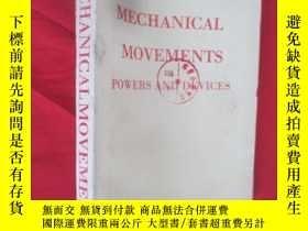 二手書博民逛書店Mechanical罕見movement power and device(機械運動動力和裝置)(大32開) 【詳