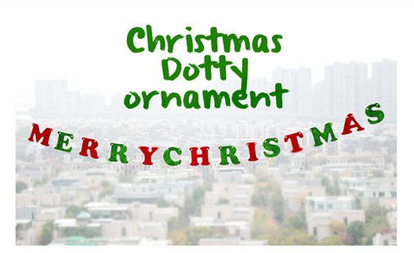 【發現。好貨】韓國聖誕節派對櫥窗裝飾毛氈英文字母旗拉花Merry Christmas聖誕拉旗吊旗