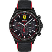 Scuderia Ferrari 法拉利 Pilota 賽車手計時錶-46mm FA0830623
