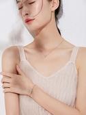 手鍊小蠻腰手女純銀韓版簡約玫瑰金閨蜜彩金飾品生日禮物送女友 新年禮物