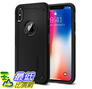[106美國直購] 手機保護殼 Spigen Hybrid Armor iPhone X Case with Air Cushion Technology and Secure