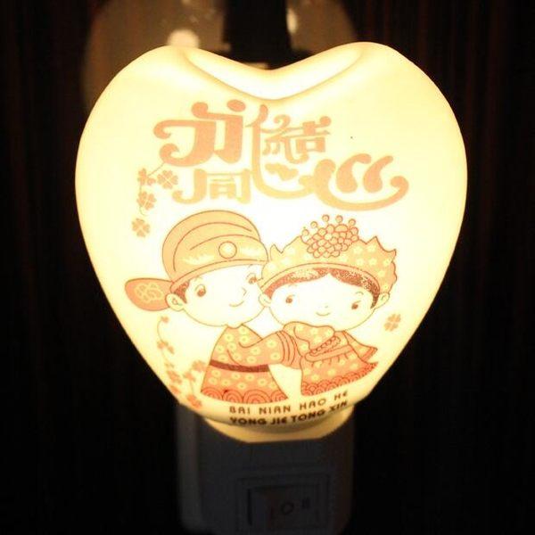 陶瓷黃光節能燈創意香薰小夜燈插電帶開關床頭喂奶燈臥室燈精油燈 智聯