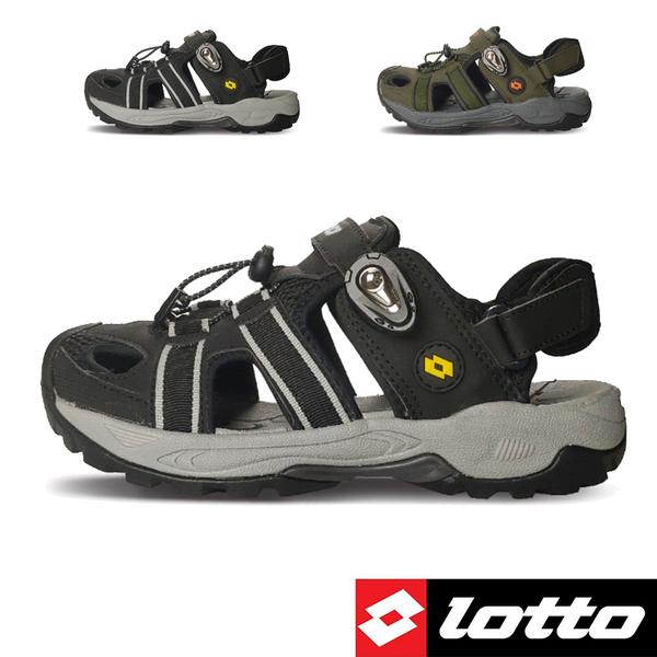 男款 LOTTO 3160 兩束扣護趾透氣排水防滑耐磨易曲折輕量軟Q水陸車鞋休閒運動涼鞋護趾涼鞋 59鞋廊