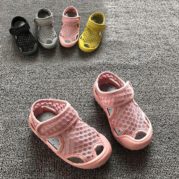 透氣網布兒童涼鞋 膠底涼鞋 膠底涼鞋 兒童 小童 沙灘鞋  橘魔法Baby magic  鞋內12.5CM~19.5CM 溯溪 玩水