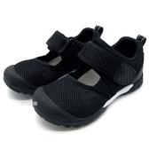 《7+1童鞋》中童 日本月星 MOONSTAR 輕量透氣 運動涼鞋 機能涼鞋 D446 黑色
