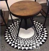 簡約北歐圓形地毯現代家用客廳茶幾臥室床邊床前可愛吊籃電腦椅墊YYJ    原本良品