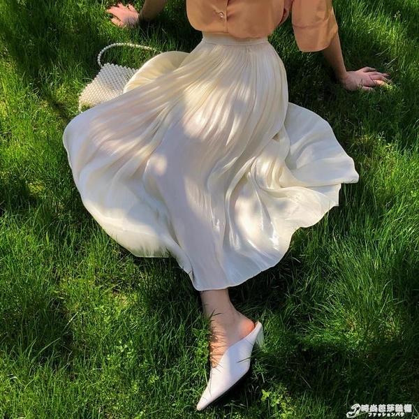 Onepire Atelier|Mademoiselle Ripple|水波小姐發光銅氨絲半裙 時尚芭莎