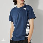 Adidas AERO 3S TEE 男 墨綠 運動 休閒 短袖 GM1066