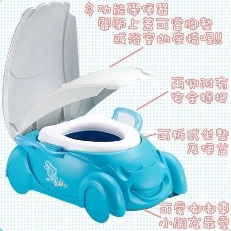 *粉粉寶貝玩具*親親Q版小汽車馬桶-可愛嘟嘟車馬桶~有輔助把手