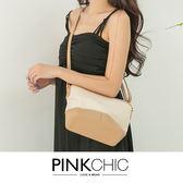包包 撞色側背包/斜背包 - PINK CHIC - 826651