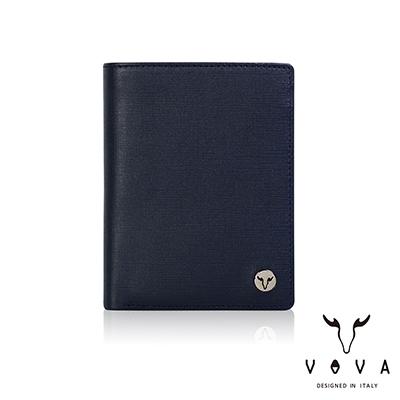 【VOVA】  凱旋II系列6卡IV紋名片夾(深邃藍)VA116W037NY