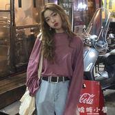秋裝2018新款韓版chic早秋上衣慵懶寬鬆衣服港味打底衫長袖T恤女 嬌糖小屋