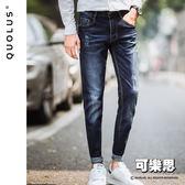深藍 復古 水洗 男生牛仔長褲牛仔褲 休閒長褲 休閒褲 男【SG-K8030】『可樂思』