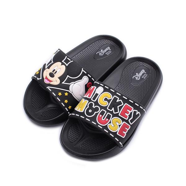 DISNEY 米奇立體套式拖鞋 黑 中大童鞋 鞋全家福