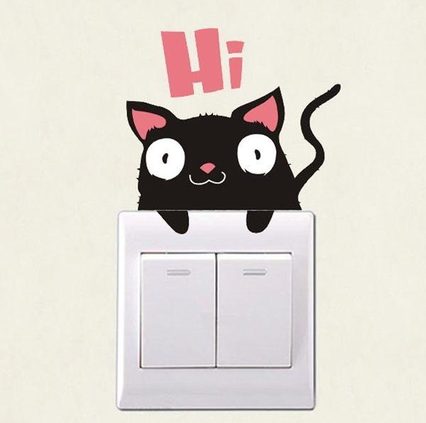 壁貼 小老鼠 開關貼 無痕壁貼 創意壁貼 家電貼櫥櫃 玻璃貼 牆貼 紙【A1010】