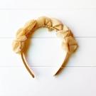 米黃紗花造型髮圈 拍照 髮箍 畢業典禮 ...