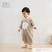 嬰兒連身衣保暖睡袋哈衣新生兒法蘭絨睡衣嬰兒衣服寶寶抱衣防踢被 萬聖節狂歡