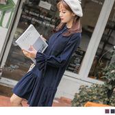 《DA6027-》燈芯龍手感荷葉袖綁帶排釦高棉洋裝 OB嚴選
