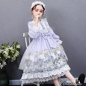 女童洋裝 蘿莉塔女童連衣裙兒童公主裙洛麗塔裙子正版童裝lolita洋裝小學生 快速出貨
