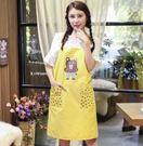 圍裙 - 圍裙布藝棉質可愛卡通廚房餐廳清潔圍裙【快速出貨八折搶購】