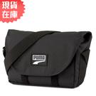 【現貨】PUMA Deck Mini 側背包 郵差包 休閒 魔鬼氈 反光 黑【運動世界】07786101