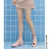 MAIYU 果凍雨鞋女時尚款外穿防水鞋成人短筒水鞋韓國可愛雨靴防滑 解憂雜貨鋪