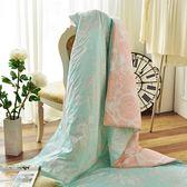【早春涼被】義大利La Belle《花曜滿庭》純棉吸濕透氣涼被(5x6.5尺)MIT