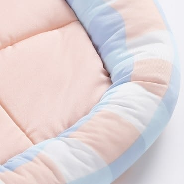 格子涼感寵物墊 藍粉配色