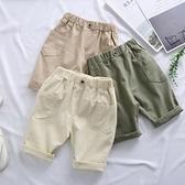 男童短褲 2021夏裝新款男童寬松五分褲洋氣女寶寶休閑中褲中小童工裝褲子潮 小衣裡
