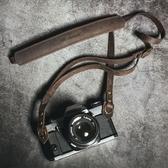 牛皮相機背帶頭層手工復古微單肩帶單反掛繩 米希美衣ATF
