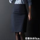 職業裙 職業半身裙女夏季黑色一步裙工作西裝群包臀工裝裙中長款高腰裙子-Ballet朵朵
