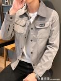 牛仔外套男士外套春秋季年新款韓版潮流機能工裝牛仔上衣男生夾克 米蘭 5-21