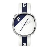 【FILA 斐樂】月蝕系列簡約風方形腕錶-帥氣藍/38-162-105/台灣總代理公司貨享兩年保固
