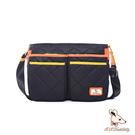 B.S.D.S冰山袋鼠 - 蘭姆嘉年華 - 簡約設計雙口袋側背包 - 樹莓黑【Z073K】