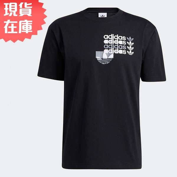 【現貨】ADIDAS Forum Tee 男裝 短袖 休閒 純棉 發泡印花 經典 黑【運動世界】GN3867