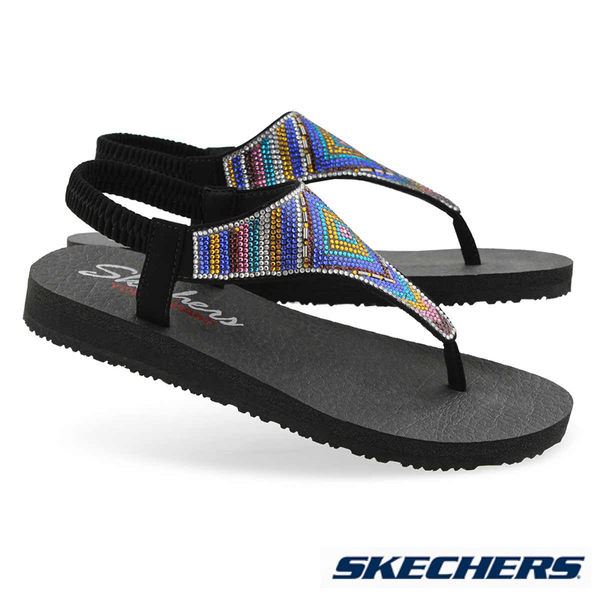 SKECHERS MEDITATION GYSPY GLAM 涼鞋 - 31769BKMT