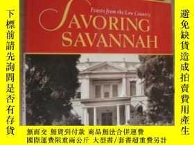 二手書博民逛書店Savoring罕見Savannah: Feasts from