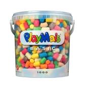 德國PlayMais 玩玉米創意黏土分享超值桶(1000顆)