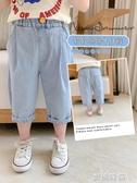 棉小班童裝男童夏裝牛仔褲2020新款韓版個性褲子兒童休閒軟七分褲『蜜桃時尚』