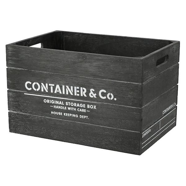 木製收納盒 SHACK2 寬高型 標準型 BK NITORI宜得利家居