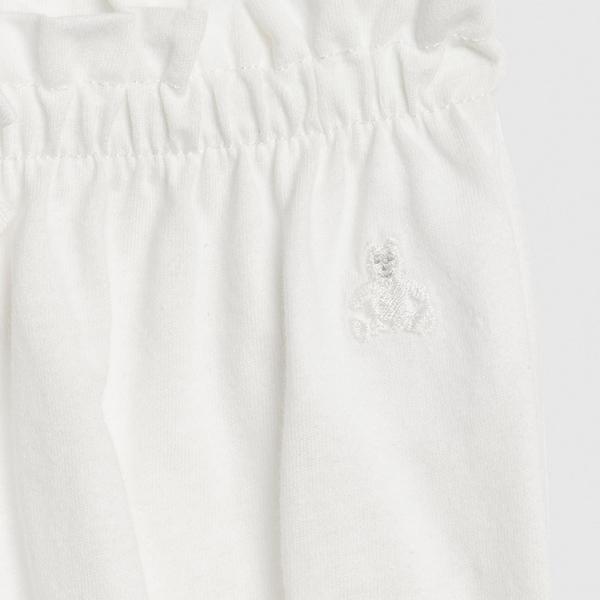 Gap女嬰鬆緊腰荷葉邊飾短褲543643-光感亮白