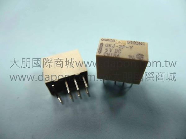 *大朋電子商城*OMRON G6J-2P-Y-5VDC 繼電器Relay(5入)
