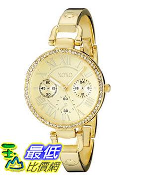 [美國直購] 女錶 XOXO Women s XO5756 Rhinestone-Accented Gold-Tone Stainless Steel Watch