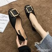 女鞋2020夏季新款淑女平底配裙子的鞋子百搭軟底瓢鞋豆豆鞋單鞋女 黛尼時尚精品