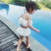 萬聖節大促銷 韓版新款兒童泳衣精美公主蕾絲女童中小童分體蛋糕裙寶寶泳裝紗裙