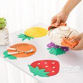 隔熱墊 創意盤墊餐桌隔熱墊家用盤碗碟墊子碗墊杯墊硅膠防水防燙餐墊 4色
