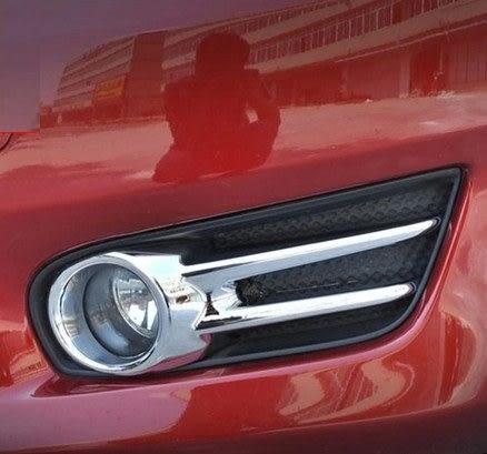 【車王小舖】日產 BIG TIIDA霧燈框 新TIIDA鍍烙霧燈框 ABS鍍烙