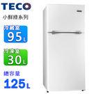 TECO東元 125L小鮮綠雙門冰箱 R...