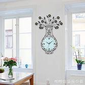 掛鐘/時鐘-時鐘掛鐘客廳家用時尚個性創意靜音歐式鐘錶現代簡約大氣免打孔YYP 糖糖日繫