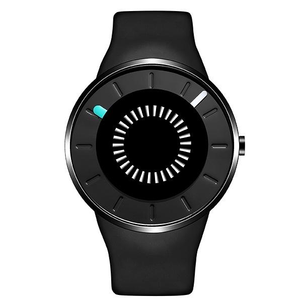 【odm】BOUNCING律動系列節奏閃燈設計腕錶-極致黑/DD162-01/台灣總代理公司貨享兩年保固